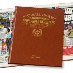 Personalised Sheffield United Historic Newspaper Memorabilia Book