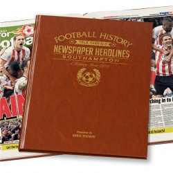 Personalised Southampton FC Historic Newspaper Memorabilia Book