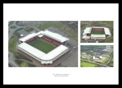 Stoke City Britannia Stadium Aerial Views Photo Montage