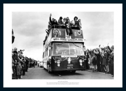 Sunderland 1973 FA Cup Final Open Top Bus Photo Memorabilia