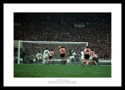 Sunderland 1973 FA Cup Final Winning Goal Photo Memorabilia