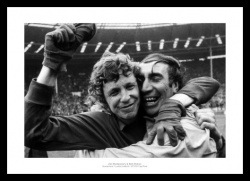 Sunderland 1973 FA Cup Final Stokoe & Montgomery Photo