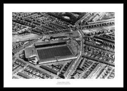 Roker Park Stadium 1967 Sunderland Aerial Photo