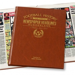 Personalised Sunderland AFC Historic Newspaper Memorabilia Book