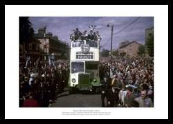 Tottenham Hotspur 1961 Double Open Top Bus Photo Memorabilia
