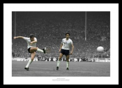 Hoddle and Ardiles Spurs 1981 FA Cup Final Spot Colour Print