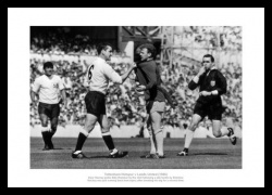 Dave Mackay Grabs Billy Bremner 1966 Photo Memorabilia