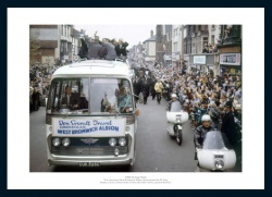 West Bromwich Albion 1968 FA Cup Final Open Top Bus Photo Memorabilia