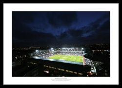 Boleyn Ground (Upton Park) at Night West Ham United Photo Memorabilia