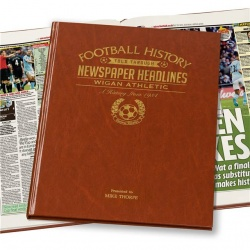 Personalised Wigan Athletic Historic Newspaper Memorabilia Book