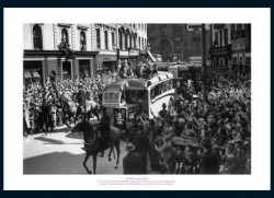 Wolverhampton Wanderers 1949 FA Cup Final Open Top Bus Photo Memorabilia