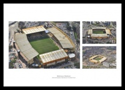 Wolverhampton Wanderers Molineux Stadium Aerial Photo Montage