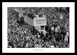 Arsenal 1971 Double Open Top Bus Celebrations Photo