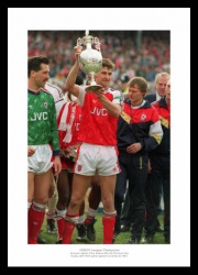 Tony Adams Arsenal 1991 League Champions Photo Memorabilia