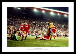 Michael Thomas 1989 Arsenal v Liverpool Goal Photo Memorabilia
