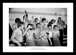 Aston Villa 1981 League Champions Team Celebrations Photo