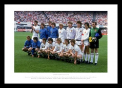 Aston Villa 1982 European Cup Winning Team Line Up Photo