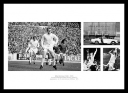 Billy Bremner Leeds United Legend Photo Memorabilia Montage