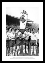 Bolton Wanderers 1958 FA Cup Final  Nat Lofthouse Photo Memorabilia
