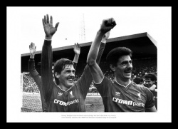Liverpool 1986 League Champions Kenny Dalglish & Ian Rush Photo Memorabilia