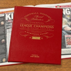Personalised Liverpool League Champions – The Winning Seasons Newspaper Book