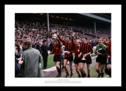 Manchester City 1969 FA Cup Final Team Photo Memorabilia