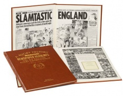 Personalised Rugby Six Nations Historic Newspaper Book