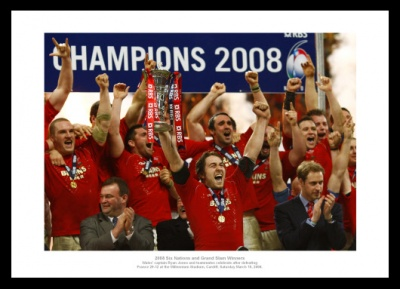 Wales 2008 Grand Slam Team Celebrations Photo