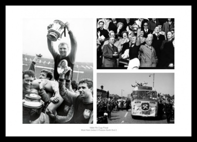 West Ham United 1964 FA Cup Final Photo Memorabilia