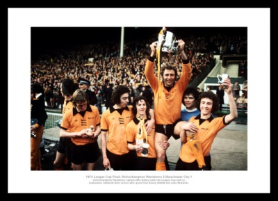Wolverhampton Wanderers 1974 League Cup Final Team Photo Memorabilia